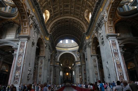 Inside Saint Peters Basilica