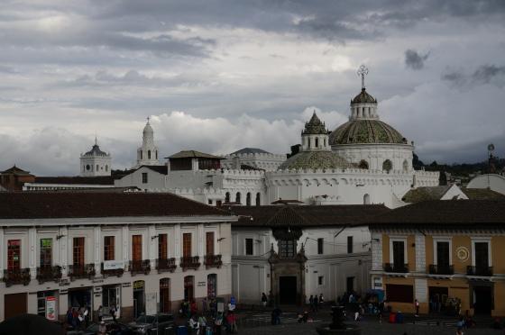 San Francisco plaza in Quito